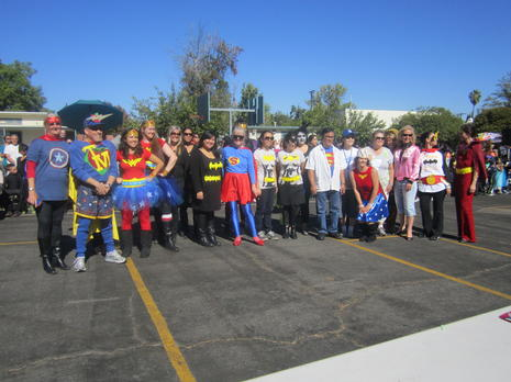 Staff Picture at 2013 Halloween Parade, Theme: Super Heros